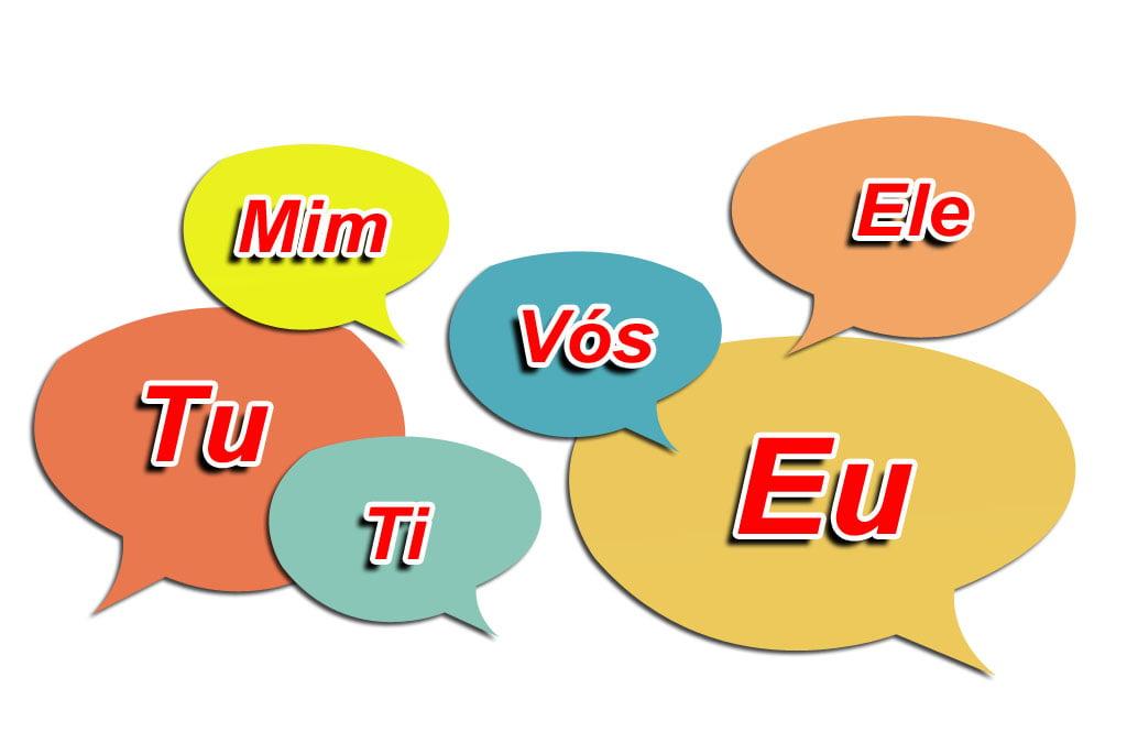 Conjugação do verbo com o pronome pessoal