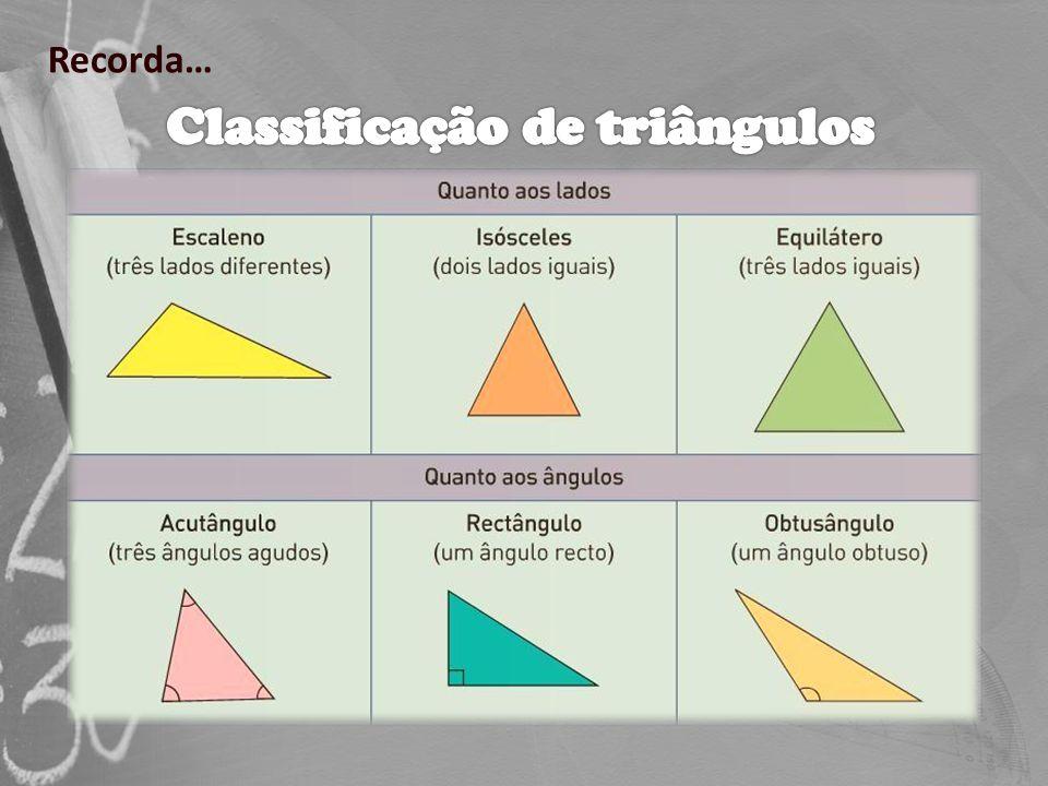 Triângulos - Propriedades e classificação e construção