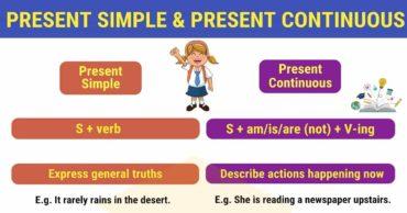 Ficha de Trabalho – Present Simple or Present Continuous (3) – Soluções