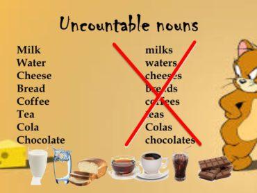 Ficha de Trabalho – Countable and uncountable nouns (1) – Soluções