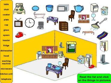 Ficha de Trabalho – Furniture in the house (2) – Soluções