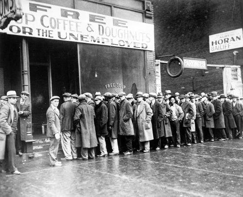 A grande depressão dos anos 30 e seus impactos